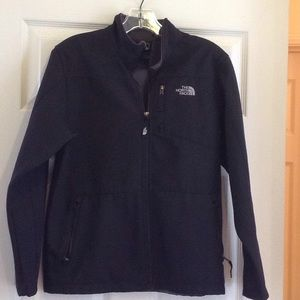 The North Face boy's black jacket. Size L.